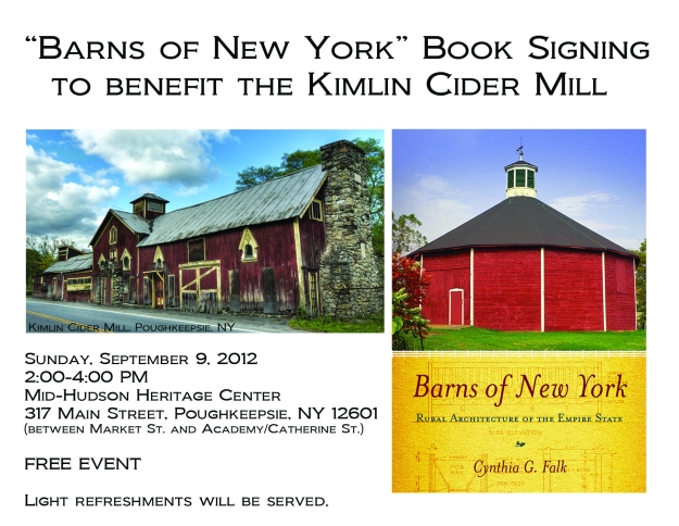 Barns of New York Book Signing Postcard Front