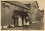 Undated photo of Vassar girls at the Mill.  From at least prior to 1933, if not much earlier. From the Vassar College archives.