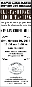 Cider Tasing Event Save the Date 2015