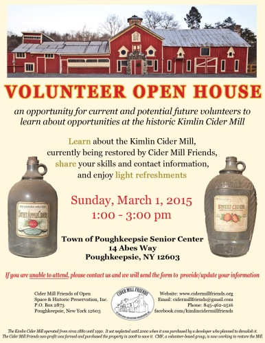 Volunteer Open House 2015 flyer