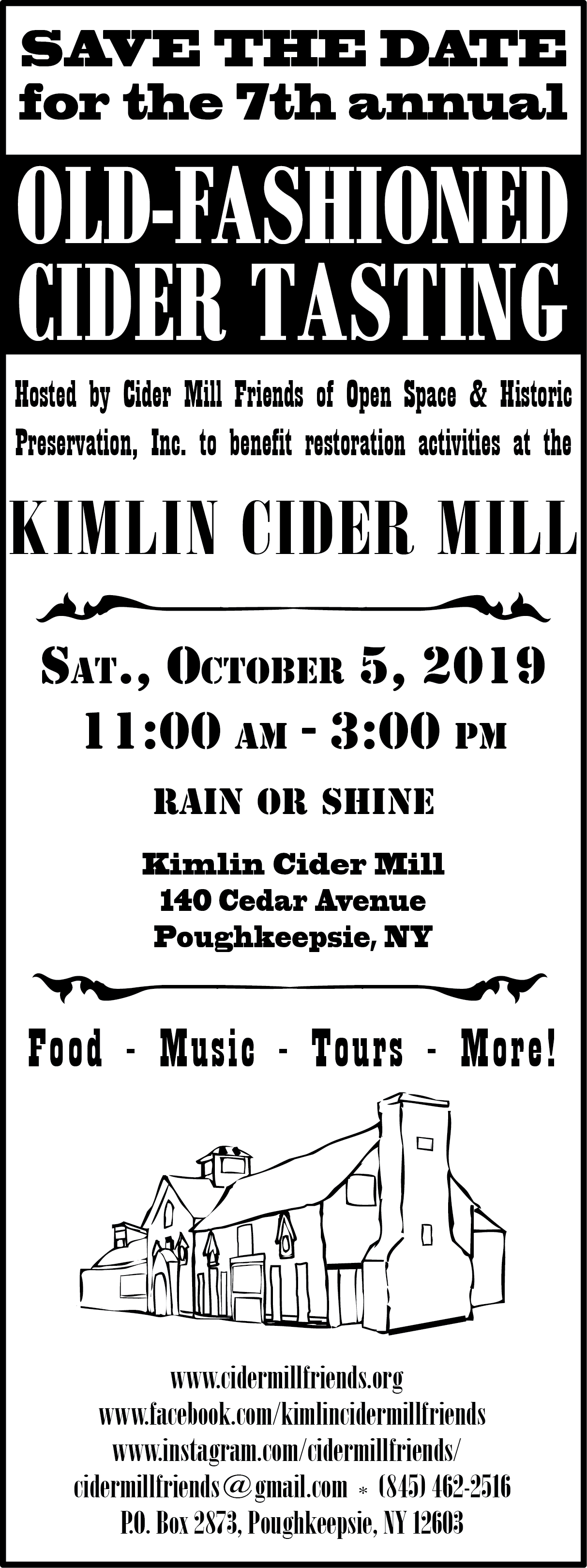 Cider Tasing Event Save the Date 2019